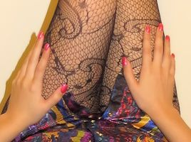 New Fishnet Stocking Goddess Leg Worship